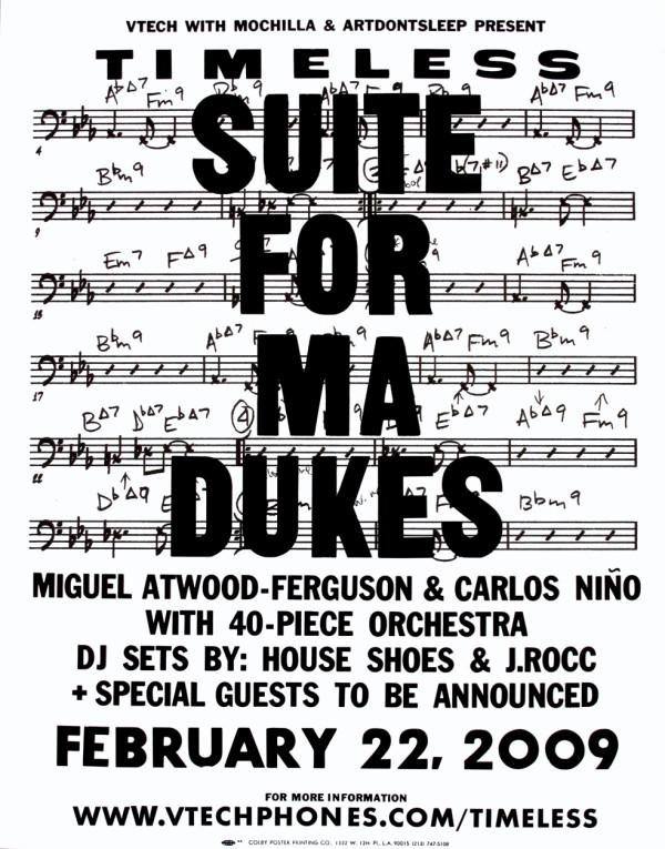 Vtech, Mochilla and ArtDontSleep present: Timeless II of IV: Suite For Ma Dukes