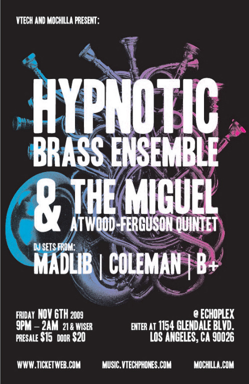 Hypnotic Brass Ensemble & The Miguel Atwood Ferguson Quintet