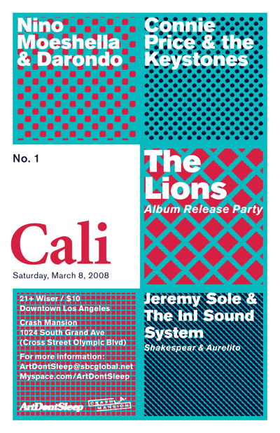 ArtDontSleep presents Cali No. 1