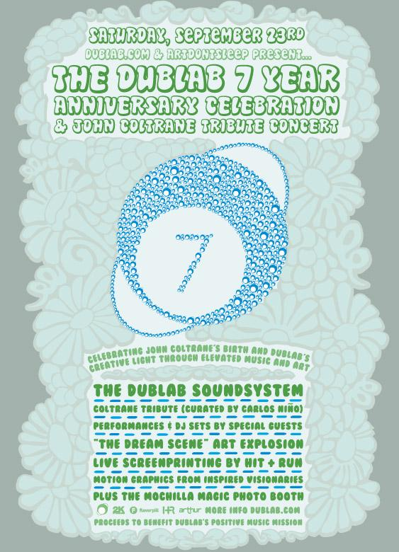 Dublab and ArtDontSleep present The Dublab 7 Year Anniversary